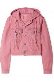 Hooded cropped denim jacket  at Net a Porter