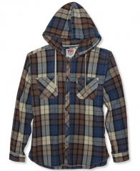 Hooded plaid shirt by Levis at Macys