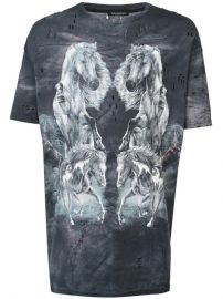 Horse Printed T-shirt by Balmain at Farfetch