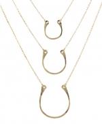 Horse Shoe Charm Necklace at Peggy Li