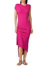 Hot Pink Ruched Dress by Paco Rabanne at Rent the Runway