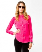 Hot pink shirt like Janes at Forever 21