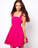 Hot pink sun dress at ASOS at Asos