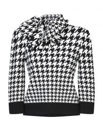 Houndstooth Bow Jumper by Alexander Mcqueen at Yoox