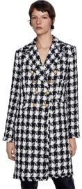 Houndstooth Double Breasted Coat at Zara