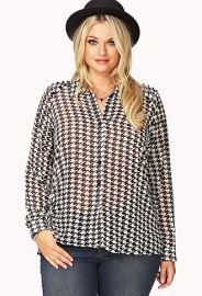 Houndstooth blouse at Forever 21