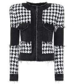 Houndstooth cotton-blend jacket at Mytheresa