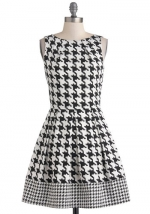 Houndstooth dress from ModCloth at Modcloth
