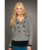 Houndstooth jacket at 6pm