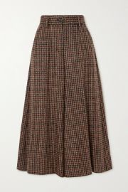 Houndstooth tweed culottes  at Net a Porter