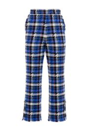 Houndstooth tweed trousers at Pinko