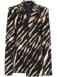 House Of Holland Asymmetric Zebra Print Blazer - Farfetch at Farfetch