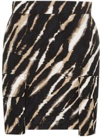 tie-dye zebra print mini skirt at Farfetch