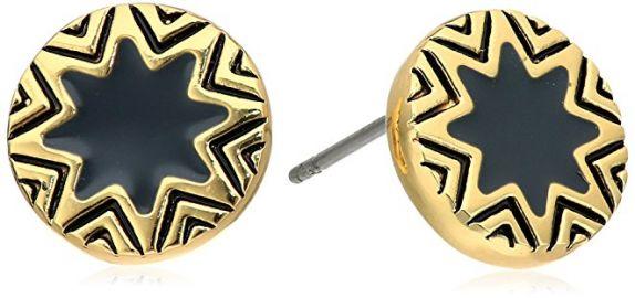 House of Harlow 1960 Enameled Sunburst Stud Earrings black at Amazon