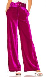 House of Harlow 1960 X REVOLVE Mona Belted Pant in Magenta from Revolve com at Revolve