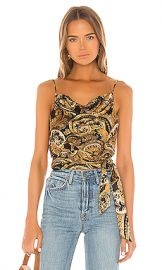 House of Harlow 1960 X REVOLVE Patrice Top in Black  amp  Gold Paisley from Revolve com at Revolve