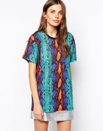 House of Holland  House Of Holland Snake Print Oversized T-Shirt at Asos