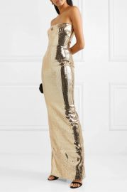 Howard strapless sequined crepe gown at Net A Porter