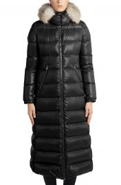 Hudson Long Puffer Coat w/ Fur Hood at Nordstrom