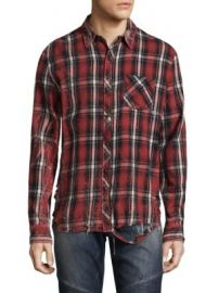 Hudson - Plaid Cotton Casual Button-Down Shirt at Saks Fifth Avenue