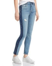 Hudson Barbara Side-Stripe Skinny Jeans in Night Tide Women - Bloomingdale s at Bloomingdales