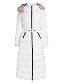 Hudson Fox Fur-Trim Long Puffer Coat by Moncler at Saks Fifth Avenue