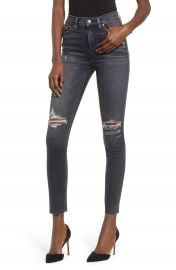 Hudson Jeans Barbara Distressed High Waist Ankle Skinny Jeans  Worn Kona    Nordstrom at Nordstrom