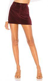 Hudson Jeans The Viper Velvet Mini Skirt in Port from Revolve com at Revolve