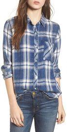 Hunter Plaid Button-Front Shirt at Amazon