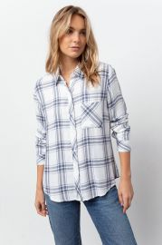 Hunter Shirt by Rails in White Storm at Rails