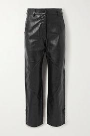 Hunter paneled leather straight-leg pants at Net A Porter