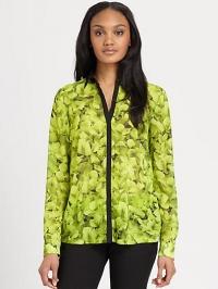 Hydrangea print shirt by Michael Kors at Saks Fifth Avenue