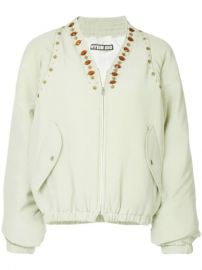 Hyein Seo Jewel Embellished Bomber Jacket - Farfetch at Farfetch