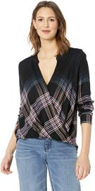 Hyperion Plaid Surplice Top at Amazon