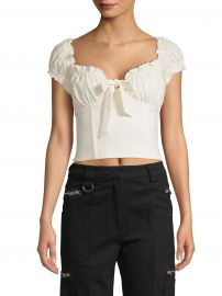 I AM GIA - Naomi Ruffled Tie-Front Crop Top at Saks Fifth Avenue