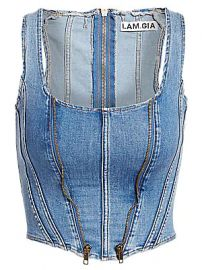 I AM GIA - Coco Denim Corset at Saks Fifth Avenue