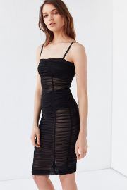 I AM GIA Thurman Ruched Mesh Dress at Urban Outfitters
