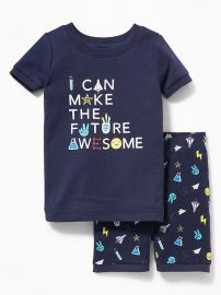 I Can Make The Future Awesome Sleep Set at Old Navy