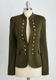 I Glam Hardly Believe It Jacket in Olive at ModCloth