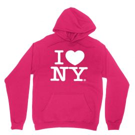 I Love NY New York Hoodie Screen Print Heart Sweatshirt Hot Pink at Amazon
