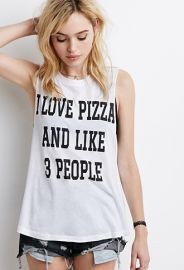 I Love Pizza Muscle Tee  Forever 21 - 2000154259 at Forever 21