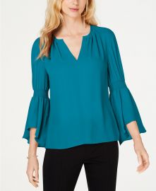 INC International Concepts I N C  Smocked Bell-Sleeve Top  Created for Macy s   Reviews - Tops - Women - Macy s at Macys
