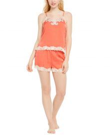 INC International Concepts INC Antique-Look Lace Woven Top and Pajama Shorts Set  Created for Macy s     Reviews - Bras  Panties   Lingerie - Women - Macy s at Macys