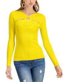 INC International Concepts INC O-Ring Cutout Ribbed Sweater  Created for Macy s   Reviews - Sweaters - Women - Macy s at Macys