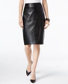 INC International Concepts Faux-Leather Pencil Skirt  Only at Macy s at Macys