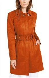 INC International Concepts Faux-Suede Trench Coat at Macys