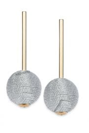 INC International Concepts Gold-Tone Wrapped Ball Drop Earrings at Macys