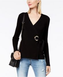 INC International Concepts Grommet Wrap Sweater at Macys