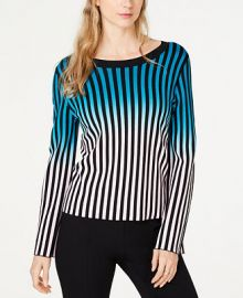 INC International Concepts I N C  Petite Ombr eacute -Stripe Pullover Sweater  Created for Macy s    Reviews - Sweaters - Women - Macy s at Macys