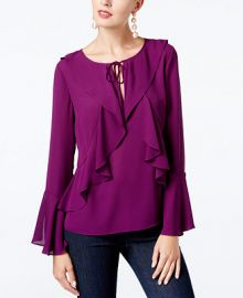 INC International Concepts I N C  Petite Ruffled Bell-Sleeve Top  Created for Macy s   Reviews - Tops - Petites - Macy s at Macys